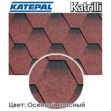 Битумная черепица KATEPAL Katrilli Осенний красный
