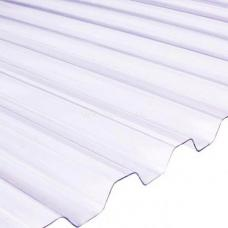 ПВХ листы Salux, прозрачная трапеция 0,8 мм
